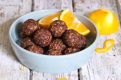 Chocolate & Orange Energy Balls 1 Terrys Chocolate Orange Cake, Terry's Chocolate Orange, Gluten Free Snacks, Gluten Free Cakes, Lunch Box Recipes, Dog Food Recipes, Vegan Recipes, Healthy Protein Snacks, Healthy Treats