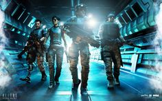 Aliens: Colonial Marines wallpaper: High Definition Backgrounds (Sherlock Jacobson 1920x1200)