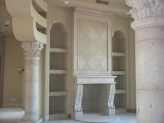 This Cantera Stone Fireplace Offers The Perfect Color To Blend With Theme Of Exquisite
