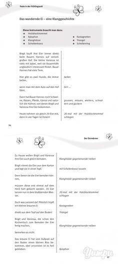 Das wandernde Ei – eine Klanggeschichte - Lesewelt - Magazine with 2 pages: Das wandernde Ei – eine Klanggeschichte - Lesewelt