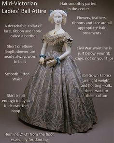 Since we help to host three Civil War balls in the South Carolina Upstate, we . - Since we help to host three Civil War balls in the South Carolina Upstate, we often get questions about what a Civil War ball dress loo… Source by bettinapawolski - Victorian Ball Gowns, Victorian Costume, Victorian Dresses, Victorian Ladies, Victorian Steampunk, Victorian Era, Victorian History, Historical Costume, Historical Clothing