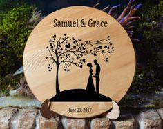 Grabado personalizado corte junta corte tablero boda regalo