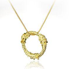dongsheng The Elder Scrolls Dragon Pendants Necklaces Game Skyrim Charm Statement Necklace -30 #Affiliate