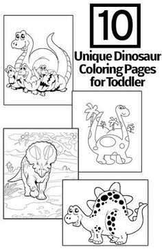 10 Unique Dinosaur Coloring Pages Your Toddler Will Love