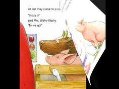 Joy Cowley narrates Mrs. Wishy-Washy and the Big Wash via DailyMotion