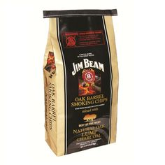 Jim Beam 3kg Oak Lumpwood Charcoal with Chips.  Can be found on level 1 in Robert Dyas