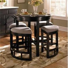 Mirren Pointe Counter Height Round Table with Wedge Stools by Broyhill Furniture - Johnny Janosik - Dining 5 Piece Set Delaware, Maryland, Virginia, Delmarva