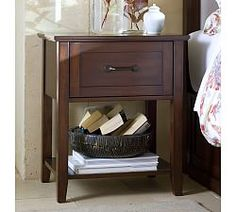 Stratton Storage Bed with Drawers, Full/Queen, Mahogany stain | Pottery Barn