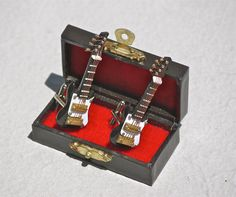 Black Fender Guitar Cuff links Realistic instrument by Polyester10, $60.00