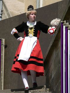 Salter girl    traditional costume from southern Germany, City of Schwäbisch Hall #SchwäbischHall