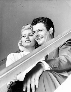 Sophia Loren and Marcello Mastroianni, c. 1954.
