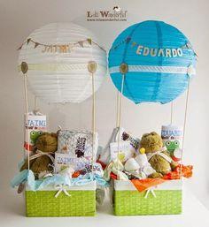 #Regalos originales para #bebes - Cesta con juguetes  #bautizo #gifts #baby shower #party
