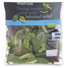 Babyleaf Salad Twin Pack Waitrose at Ocado