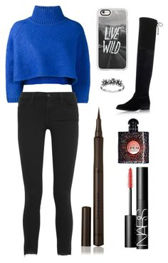 """Sans titre #1322"" by merveille67120 ❤ liked on Polyvore featuring Vika Gazinskaya, Frame Denim, Stuart Weitzman, Casetify, Primrose, Burberry, Yves Saint Laurent and NARS Cosmetics"