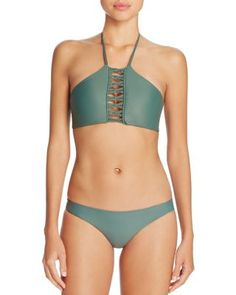 MIKOH West of Oz Halter Bikini Top & Zuma Bikini Bottom | Bloomingdale's