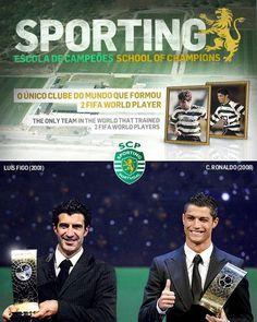SPORTING > Escola de Campeões  Luís Figo e Cristiano Reinaldo