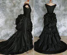 Seide Taft Gothic Victorian Hektik Kleid  Vampir von AliceCorsets