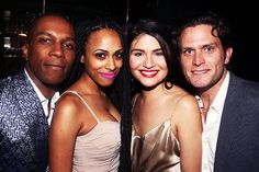 2016 Tony Honors Cocktail Party~ Leslie Odom Jr., Nicolette Robinson Odom, Phillipa Soo, Steven Pasquale