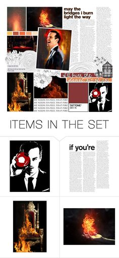 """""""""""I'll burn the heart out of you."""" ♕"""" by my-heart-is-art ❤ liked on Polyvore featuring art and BotFP"""