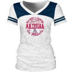 Cute Arizona Wildcats College World Series Champions Ladies Burnout T-Shirt