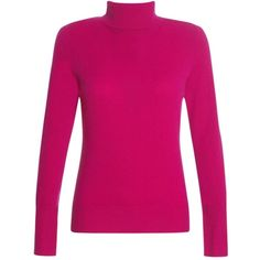 Jaeger Cashmere Roll Neck Jumper, bright pink, S (1.295 ARS) ❤ liked on Polyvore featuring tops, sweaters, blusa, pulli, shirts, women's tops, pink jumper, jumper shirt, jaeger shirts and bright pink shirt