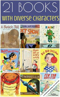 Multicultural picture Books with diversity are underrepresented. Share these titles featuring characters of color and diverse backgrounds with your kids.