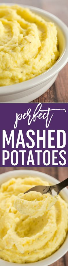Perfect Mashed Potatoes - The absolute perfect, creamiest mashed potatoes you'll ever eat! One super simple technique makes all the difference! via @browneyedbaker