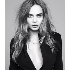 Cara Delevingne Stars in WSJ, Talks Pressure to Lose Weight ❤ liked on Polyvore featuring cara delevingne, people, backgrounds, faces and hair