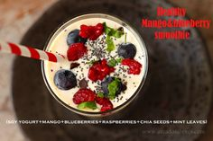 Healthy smoothie (Mango+Blueberries)