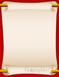 Red Scroll Letterhead, 8.5x11, 25/PK