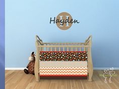 Custom Design Baby Bedding Crib Quilt and by ThePincushionStore, $130.00
