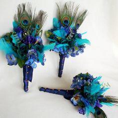 Cute turquoise bridesmaids bouqet