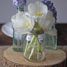 Kilner Mason Jar wedding vases vintage