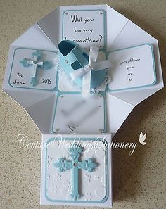 """""""Will You Be My Godmother"""" Exploding Box (cross) in Baby, Christening & Gifts, Christening 