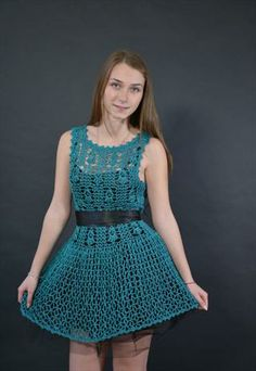 Olivia  Handmade Crochet Dress Unique Design