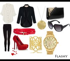 Flashy going out outfit