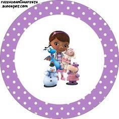 Doutora Brinquedos (Doc Mcstuffins) – Kit Completo com molduras para convites, rótulos para guloseimas, lembrancinhas e imagens!   Fazendo a...