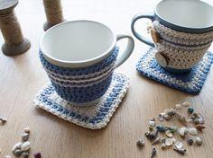 As capas de crochê para xícaras vão deixar suas louças e seus momentos de descontração muito mais interessantes (Foto: Divulgação)