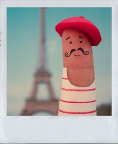 finger people. La Moustache. Wouldn't it be fun to do this everytime you went somewhere?