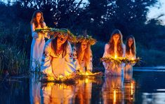 We all have heard of the ancient summer solstice observances held at holy places like Stonehenge and Chichen Itza, and we have read or watched a performance of Shakespeare's A Midsummer Night's Dre… Stonehenge, Summer Solstice Ritual, Midsummer's Eve, Elf Cosplay, Witch Aesthetic, Beltane, Folklore, Vikings, Religion
