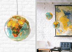 DIY: hanging globe lamp