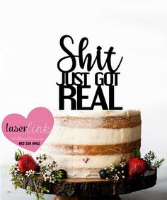 Custom made laser cut wedding and party cake toppers. Party Cakes, Laser Cutting, Cake Toppers, Place Card Holders, Wedding, Shower Cakes, Valentines Day Weddings, Weddings, Mariage