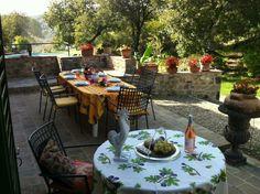 terraza rústica de estilo italiano