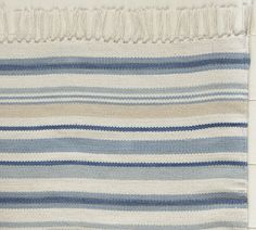 PB: Darien stripe cotton mat...oh, how I long for thee!  {and the matching bedding, and shower curtain, and...}