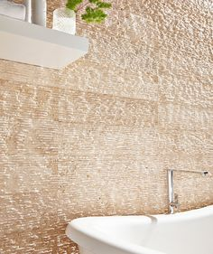 Combed Brushed Travertine Etched | Topps Tiles