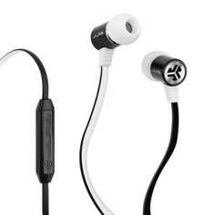 White/Black Bass Earbuds - JLab Audio Holiday Gift Guide 2015 - Best Gifts For Him