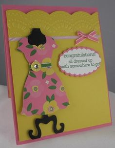 Stamps: All Dressed Up Paper: Flower Fair Simply Scrappin' Kit, Whisper White Ink: Garden Green Accessories: Dress Up Framelits, Delicate Designs Folders, Small Heart Punch