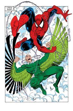 Spidey vs. Vulture - The Amazing Spider-man #336 - Erik Larsen & Mike Machlan