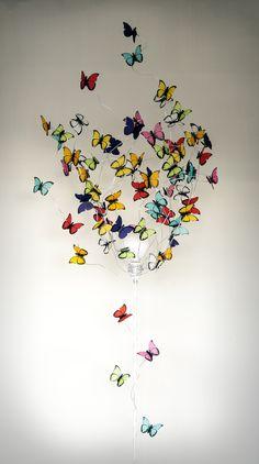 """Lampara de pie con mariposas """"Exodo"""""""