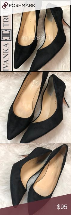 Ivanka Trump Leather Suede Pumps Ivanka Trump Designer Shoes in Luxurious  Leather Upper Black Suede Shade! Features a Minimalist Style with a Classic  ...